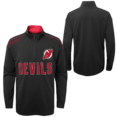 (Outerstuff Attacking Zone 1/4 Zip Performance Top - New Jersey Devils - Youth)