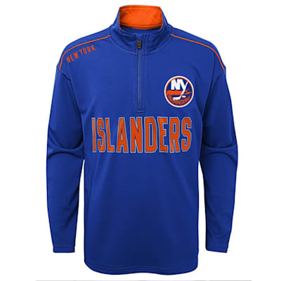 (Outerstuff Attacking Zone 1/4 Zip Performance Top - New York Islanders - Youth)