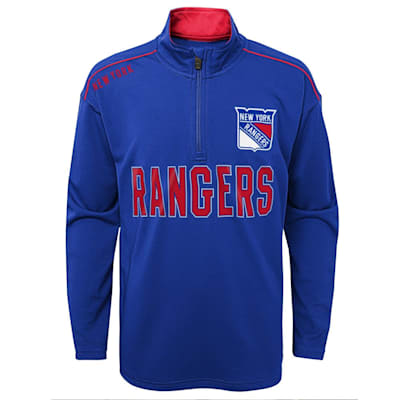 (Adidas Attacking Zone 1/4 Zip Performance Top - New York Rangers - Youth)