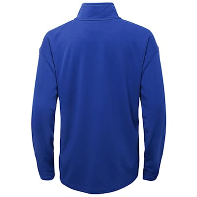 (Outerstuff Attacking Zone 1/4 Zip Performance Top - New York Rangers - Youth)