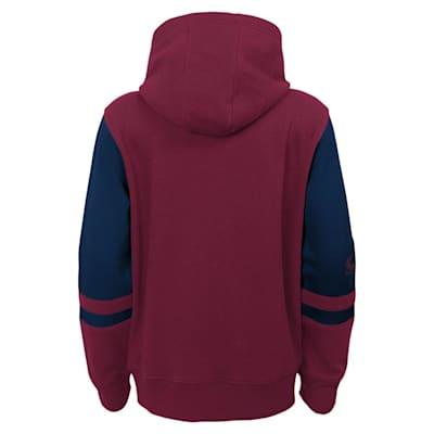 (Adidas Faceoff FZ Fleece Hoodie - Colorado Avalanche - Youth)