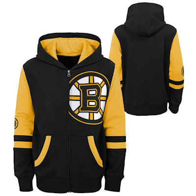 (Outerstuff Faceoff FZ Fleece Hoodie - Boston Bruins - Youth)