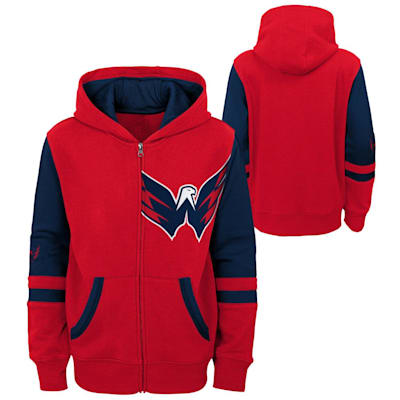 (Adidas Faceoff FZ Fleece Hoodie - Washington Capitals - Youth)