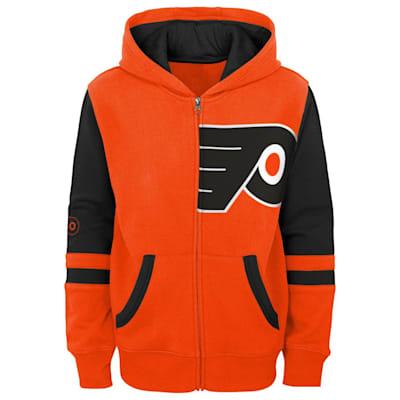 (Outerstuff Faceoff FZ Fleece Hoodie - Philadelphia Flyers - Youth)