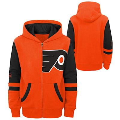 (Adidas Faceoff FZ Fleece Hoodie - Philadelphia Flyers - Youth)