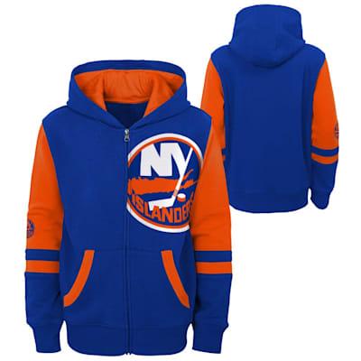 (Outerstuff Faceoff FZ Fleece Hoodie - New York Islanders - Youth)