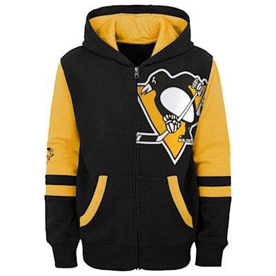 (Adidas Faceoff FZ Fleece Hoodie - Pittsburgh Penguins - Youth)