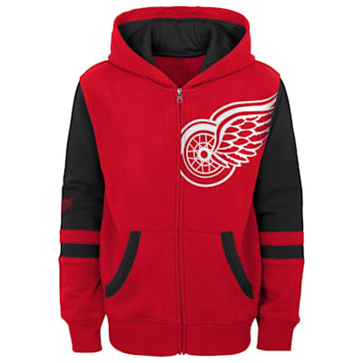 (Outerstuff Faceoff FZ Fleece Hoodie - Detroit Red Wings - Youth)
