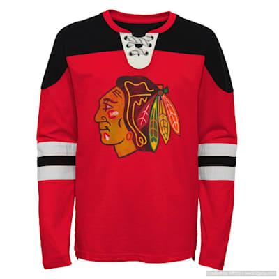 (Outerstuff Goaltender LS Top - Chicago Blackhawks - Youth)