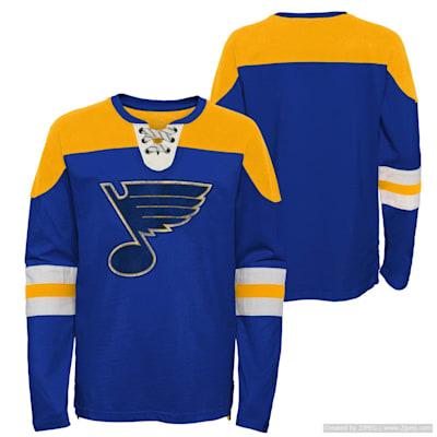 (Outerstuff Goaltender LS Top - St. Louis Blues - Youth)