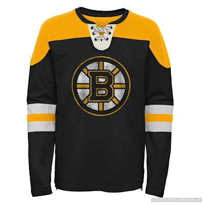 (Adidas Goaltender LS Top - Boston Bruins - Youth)