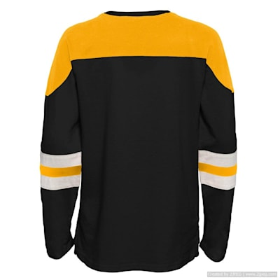 (Outerstuff Goaltender LS Top - Boston Bruins - Youth)