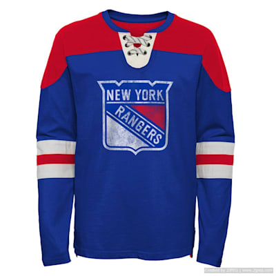 (Adidas Goaltender LS Top - New York Rangers - Youth)