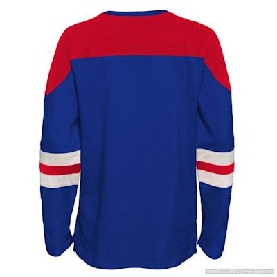 (Outerstuff Goaltender LS Top - New York Rangers - Youth)