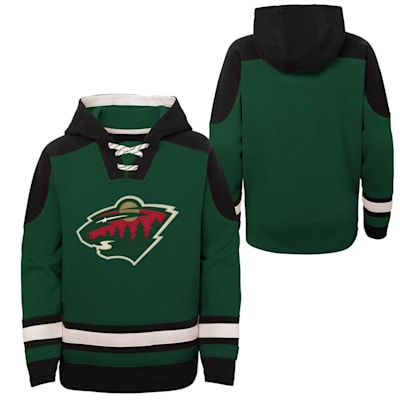 (Adidas Ageless Must Have Pullover Hoody - Minnesota Wild - Youth)