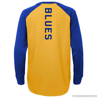 (Adidas Undisputed Long Sleeve Crew Tee - St. Louis Blues - Youth)