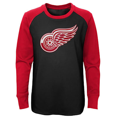 (Adidas Undisputed Long Sleeve Crew Tee - Detroit Red Wings - Youth)