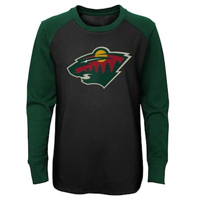 (Adidas Undisputed Long Sleeve Crew Tee - Minnesota Wild - Youth)