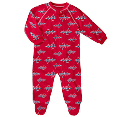 (Outerstuff Raglan Zip Up Coverall - Washington Capitals - Infant)