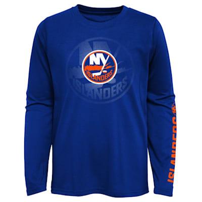 (Adidas Stop The Clock Long Sleeve Tee Shirt - New York Islanders - Youth)