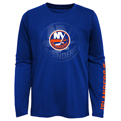 (Outerstuff Stop The Clock Long Sleeve Tee Shirt - New York Islanders - Youth)