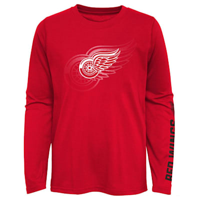 (Outerstuff Stop The Clock Long Sleeve Tee Shirt - Detroit Red Wings - Youth)