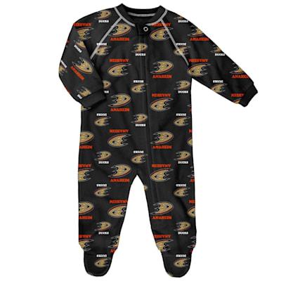 (Outerstuff Raglan Zip Up Coverall - Anaheim Ducks - Infant)