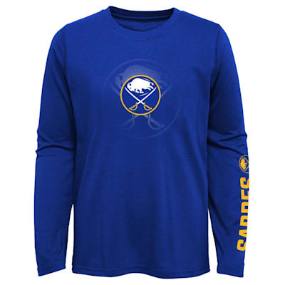 (Adidas Stop The Clock Long Sleeve Tee Shirt - Buffalo Sabers - Youth)