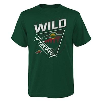(Outerstuff Angled Attitude Short Sleeve Tee Shirt - Minnesota Wild - Youth)