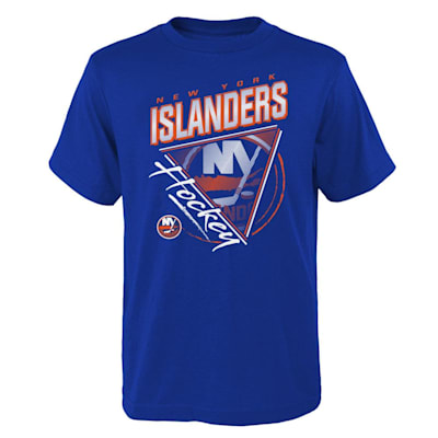 (Adidas Angled Attitude Short Sleeve Tee Shirt - New York Islanders - Youth)