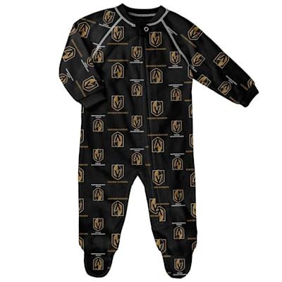 (Outerstuff Raglan Zip Up Coverall - Vegas Golden Knights - Newborn)
