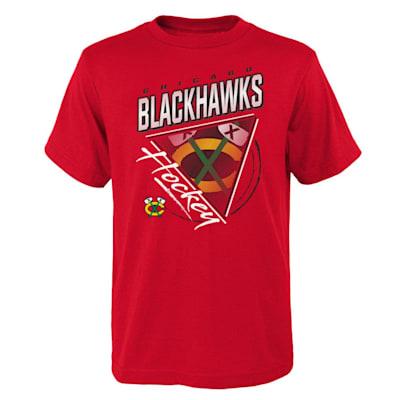 (Adidas Angled Attitude Short Sleeve Tee Shirt - Chicago Blackhawks - Youth)