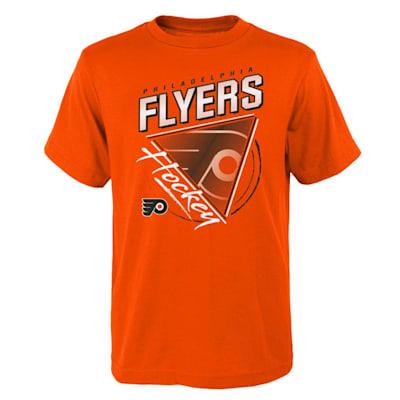 (Adidas Angled Attitude Short Sleeve Tee Shirt - Philidelpia Flyers - Youth)