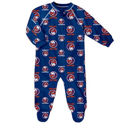 (Outerstuff Raglan Zip Up Coverall - New York Islanders - Newborn)