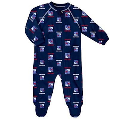 (Outerstuff Raglan Zip Up Coverall - New York Rangers - Newborn)