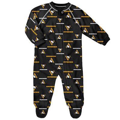 (Outerstuff Raglan Zip Up Coverall - Pittsburgh Penguins - Newborn)