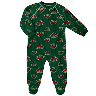 (Adidas Raglan Zip Up Coverall - Minnesota Wild - Newborn)