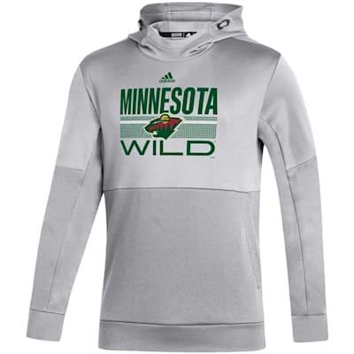 (Adidas Hockey Grind Pullover Hoodie - Minnesota Wild - Adult)