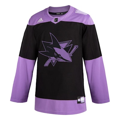 (Adidas Hockey Fight Cancer Authentic Practice Jersey - San Jose Sharks - Adult)