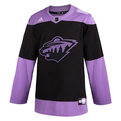 (Adidas Hockey Fight Cancer Authentic Practice Jersey - Minnesota Wild - Adult)