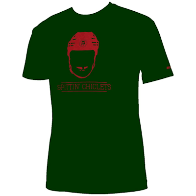 (Bauer Spittin' Chiclets NHL City Tee Shirt - Green/Red - Adult)