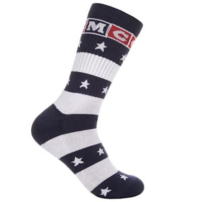 (CCM USA Stars Crew Socks)