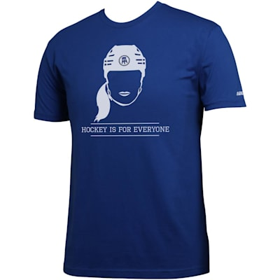 (Bauer Spittin' Chiclets Hockey Is For Everyone Tee Shirt - Blue/White - Adult)