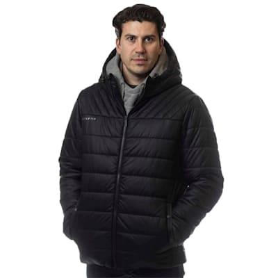 (Bauer Supreme Hooded Puffer Jacket - Black - Adult)