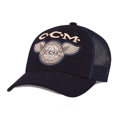 (CCM Heritage Meshback Trucker Adjustable Cap - Adult)
