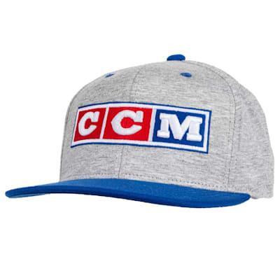 (CCM 3 Block Flatbrim Snapback Adjustable Cap - Adult)