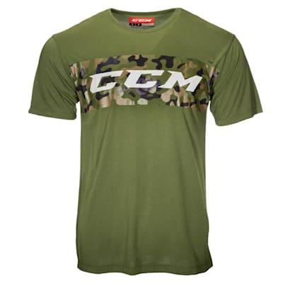 (CCM Camo Grit Stripe Short Sleeve Tee Shirt - Adult)