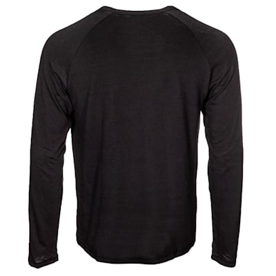 (CCM Go Dark Long Sleeve Rink Tee Shirt - Adult)