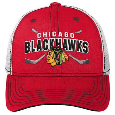 (Outerstuff Core Lockup Meshback Adjustable Hat - Chicago Blackhawks - Youth)