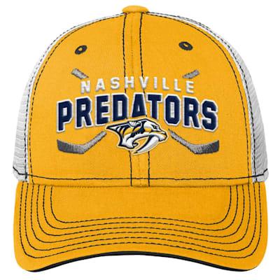 (Outerstuff Core Lockup Meshback Adjustable Hat - Nashville Predators - Youth)